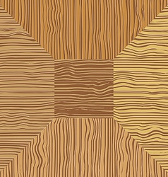 Brown wood mosaic the square geometric pattern vector