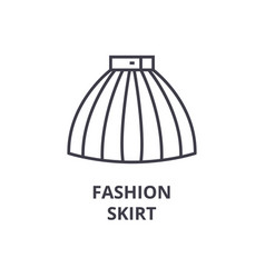 fashion skirt line icon outline sign linear vector image vector image