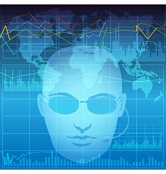 Financial analyst vector
