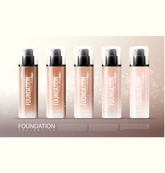 Foundation skin treatment realistic template vector