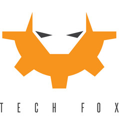 fox head and gear design template vector image