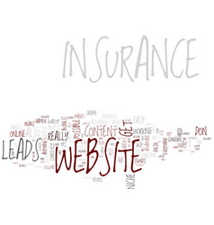 good insurance website content text background vector image