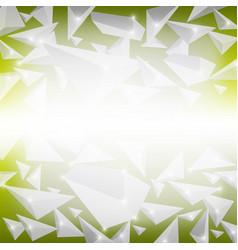 Green crystal pattern vector