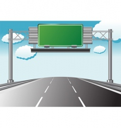 highway information vector image vector image