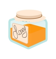 Honey bank cartoon icon vector