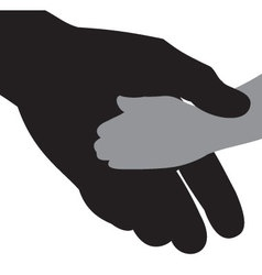 icon silhouettes of hands vector image