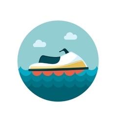 Jet Ski flat icon vector image