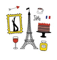 Paris style vector image