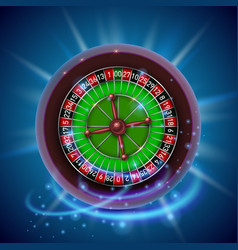 realistic casino gambling roulette wheel cover vector image vector image