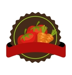 Salad vegetables fresh icon vector