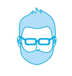 Silhouette default avatar man to social user vector