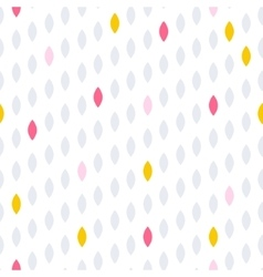 Simple drop polka dot shape seamless row pattern vector image vector image