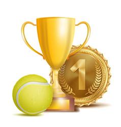 tennis award sport banner background vector image vector image
