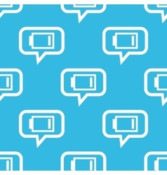 Very low battery message pattern vector