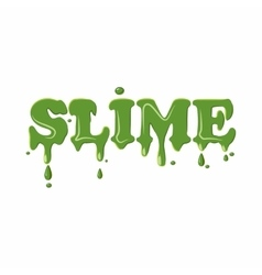 Slime word isolated on white background vector