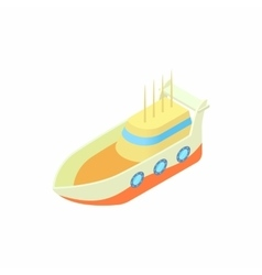 Marine ship icon cartoon style vector