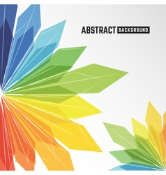 Abstract colorful crystal background vector