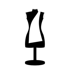 Monochrome manikin tailor shop design close up vector