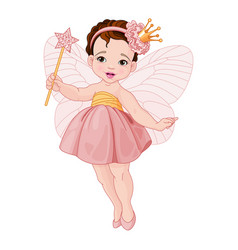 Cute fairy ballerina vector