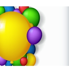 Modern decoration with balloons vector