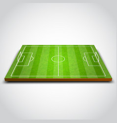 Clear green football or soccer field vector