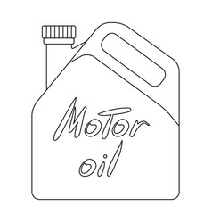 Can of engine oilcar single icon in outline style vector