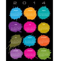 2014 Splatter Calendar vector image