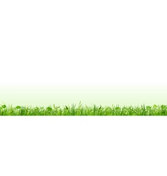 Row of green grass vector