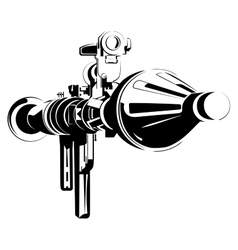 Anti-tank bazooka color rpg isolated on white vector