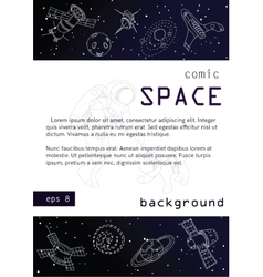 Outer space background poster design vector