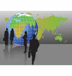 globe figures vector image