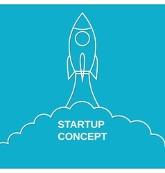 Start up concept flat style vector