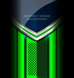 Abstract metal green background design vector
