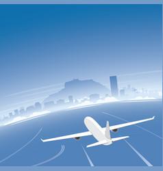 alicante skyline flight destination vector image vector image