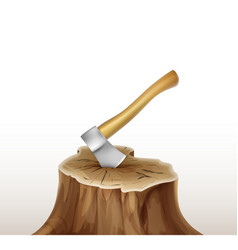 axe in stump vector image