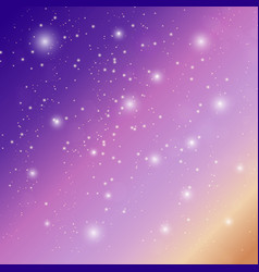 Background sky with stars vector