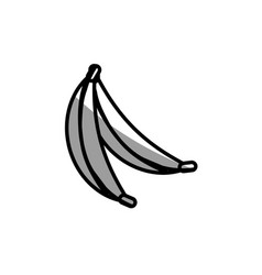 Banana fruit picnic shadow vector