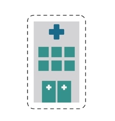Building hospital medicine healthcare cut line vector