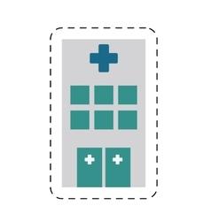 building hospital medicine healthcare cut line vector image vector image