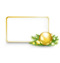 Christmas Or New Year Frame vector image vector image
