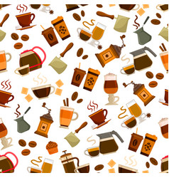 Coffee drink and cocktail seamless pattern vector
