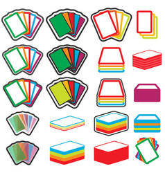 color game cards icon set eps10 vector image