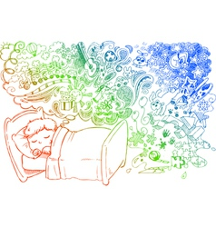 Cute dreaming child vector image vector image