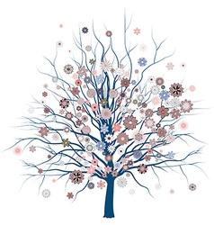 Cute romantic tree vector