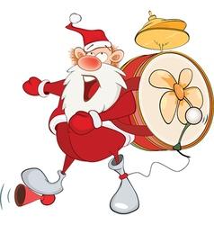 Cute santa claus one-man band vector