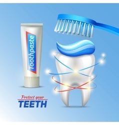 Dental concept of teeth protection vector