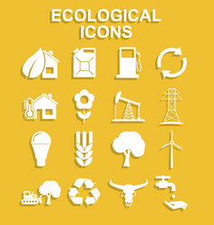 Ecology icons concept for vector