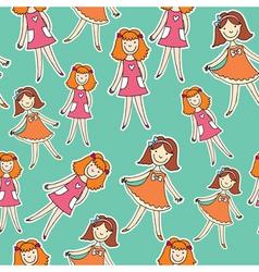 Girls in pj vector