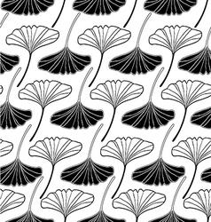 Leaf gingko sketch doodle set 2 white vector