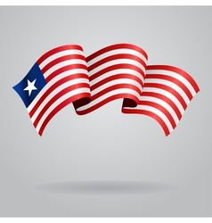 Liberian waving Flag vector image